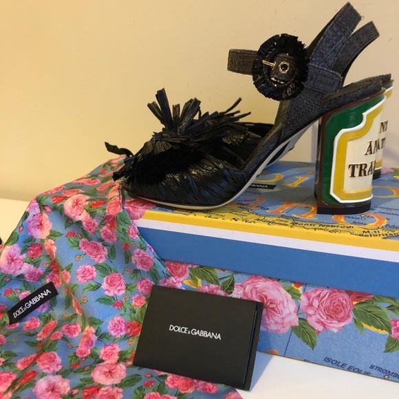 43665cf59840 Dolce  Gabbana Fringed Embellished Sandals size 8
